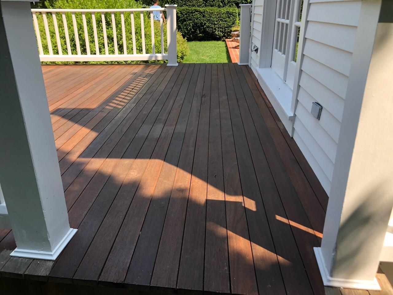 Greenwich Deck Staining - After Photo