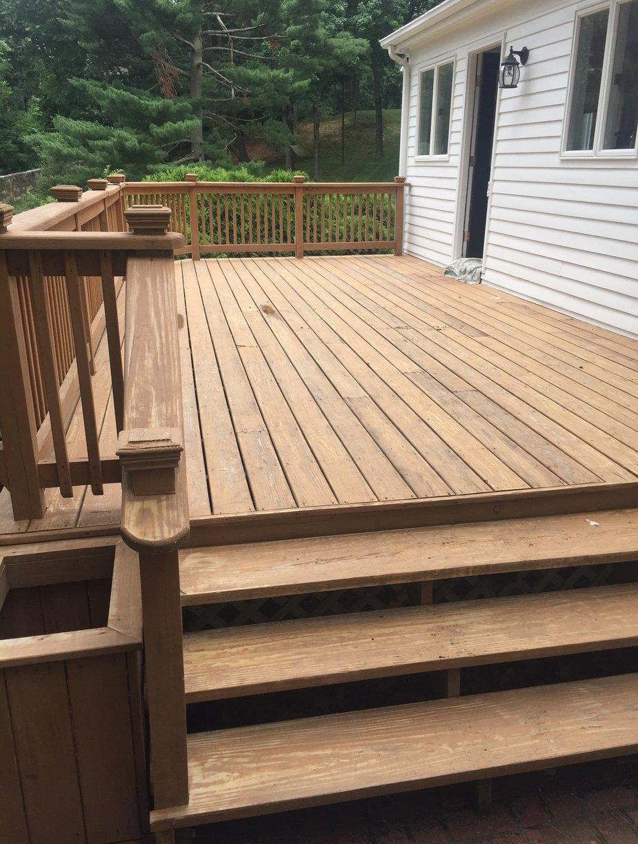 Deck Staining in Greenwich, CT - Before Photo