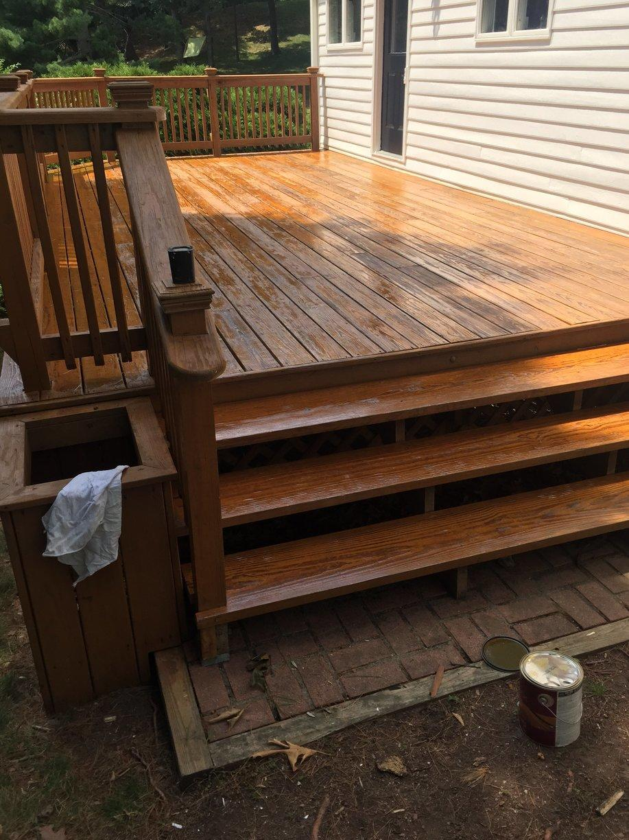 Deck Staining in Greenwich, CT - After Photo