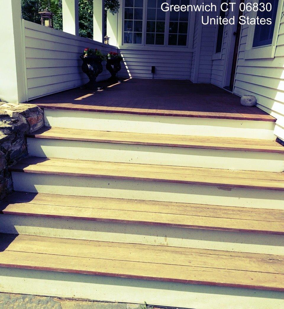 Stair Staining in Greenwich, CT - Before Photo