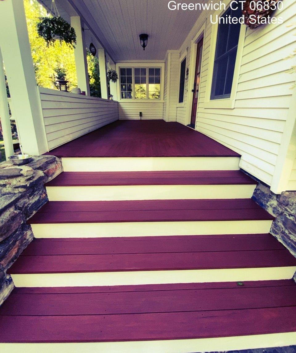 Stair Staining in Greenwich, CT - After Photo