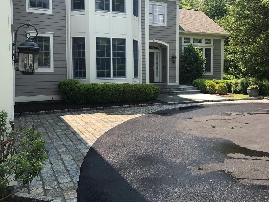 Stone Driveway Power Washing in Harrison, NY - After Photo