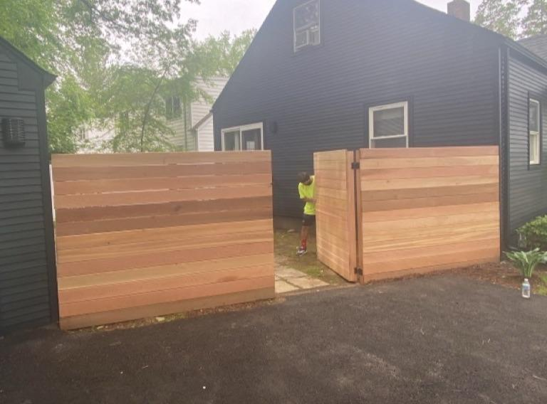 High Quality Fence Staining in White Plains, NY - Before Photo