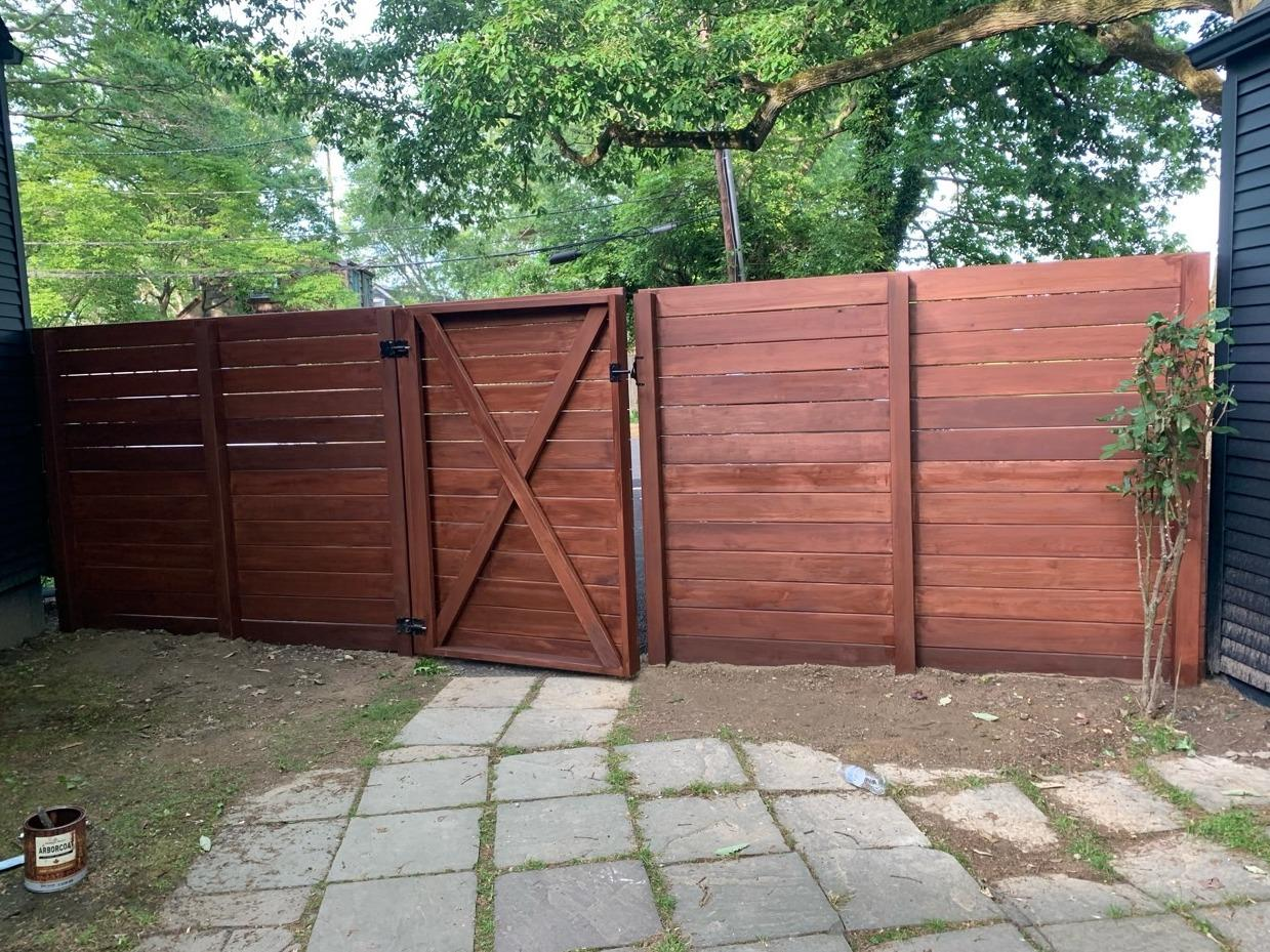 High Quality Fence Staining in White Plains, NY - After Photo