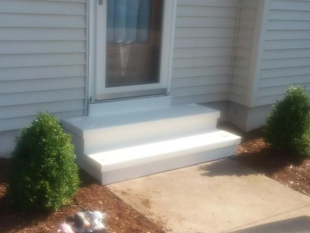 Side Steps Painted in Branford, CT