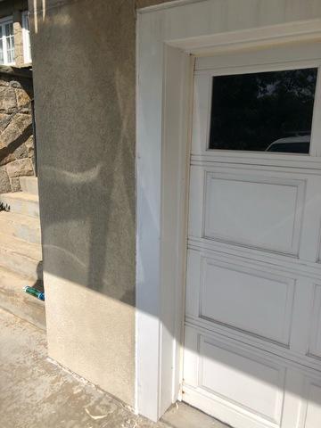 Re-caulking Garage Door in Greenwich - After Photo