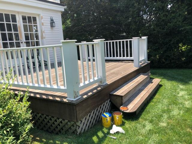 Greenwich Deck Staining - Before Photo