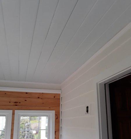 Interior Porch Painting in Darien, CT