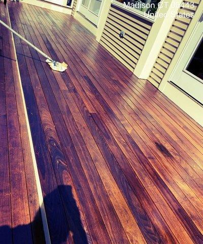 Deck Staining in Madison, CT