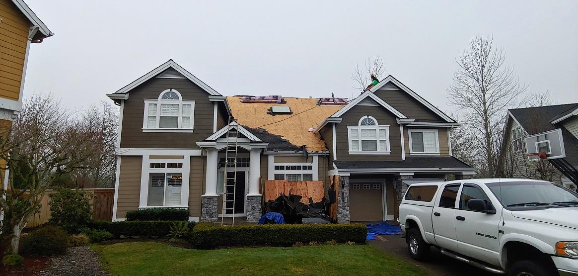 Roof Replacement in Camas, WA - Before Photo
