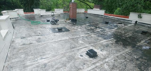 Flat Roof Replacement! - Before Photo