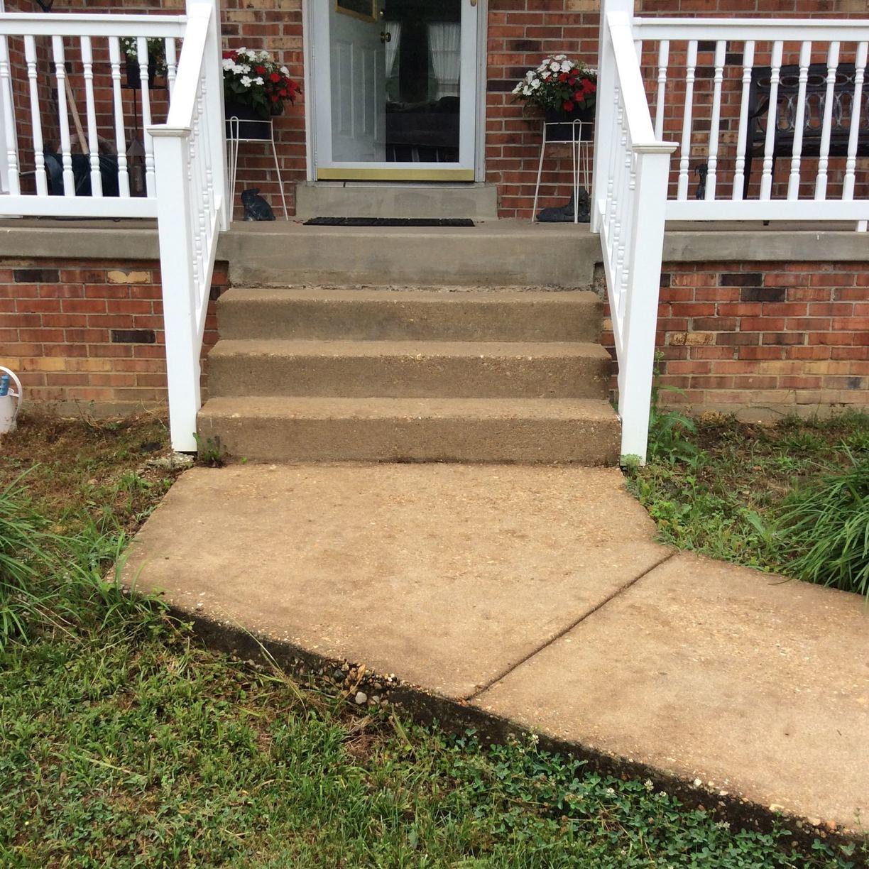 Concrete Leveling in Fredericksburg, VA - Before Photo