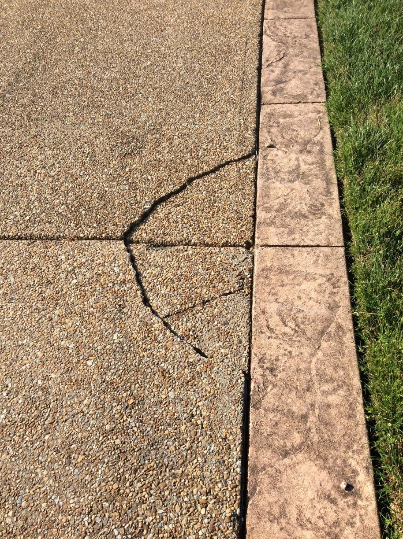 Crack Repair in Chester, VA - Before Photo