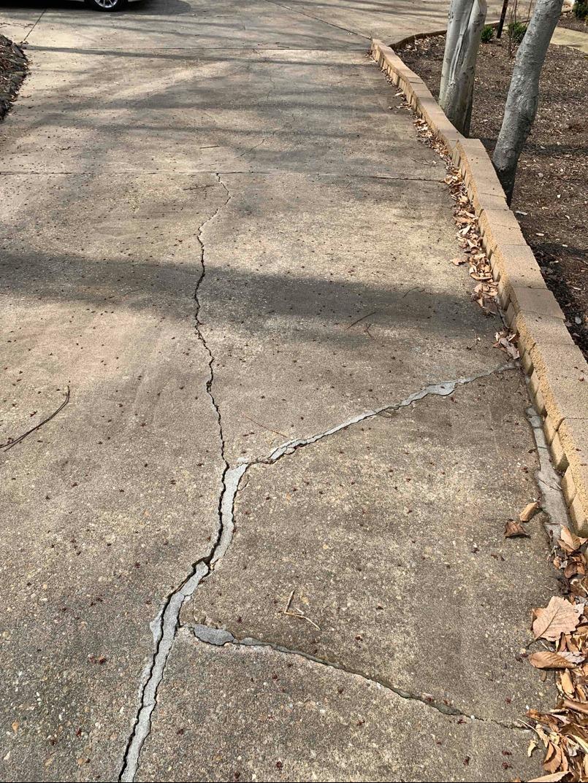 Crack Repair in Fredericksburg, VA - Before Photo