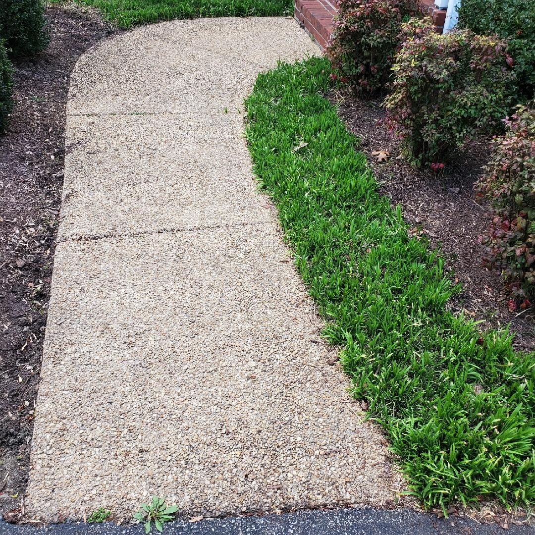 Sidewalk Repair in Mechanicsville, VA - Before Photo
