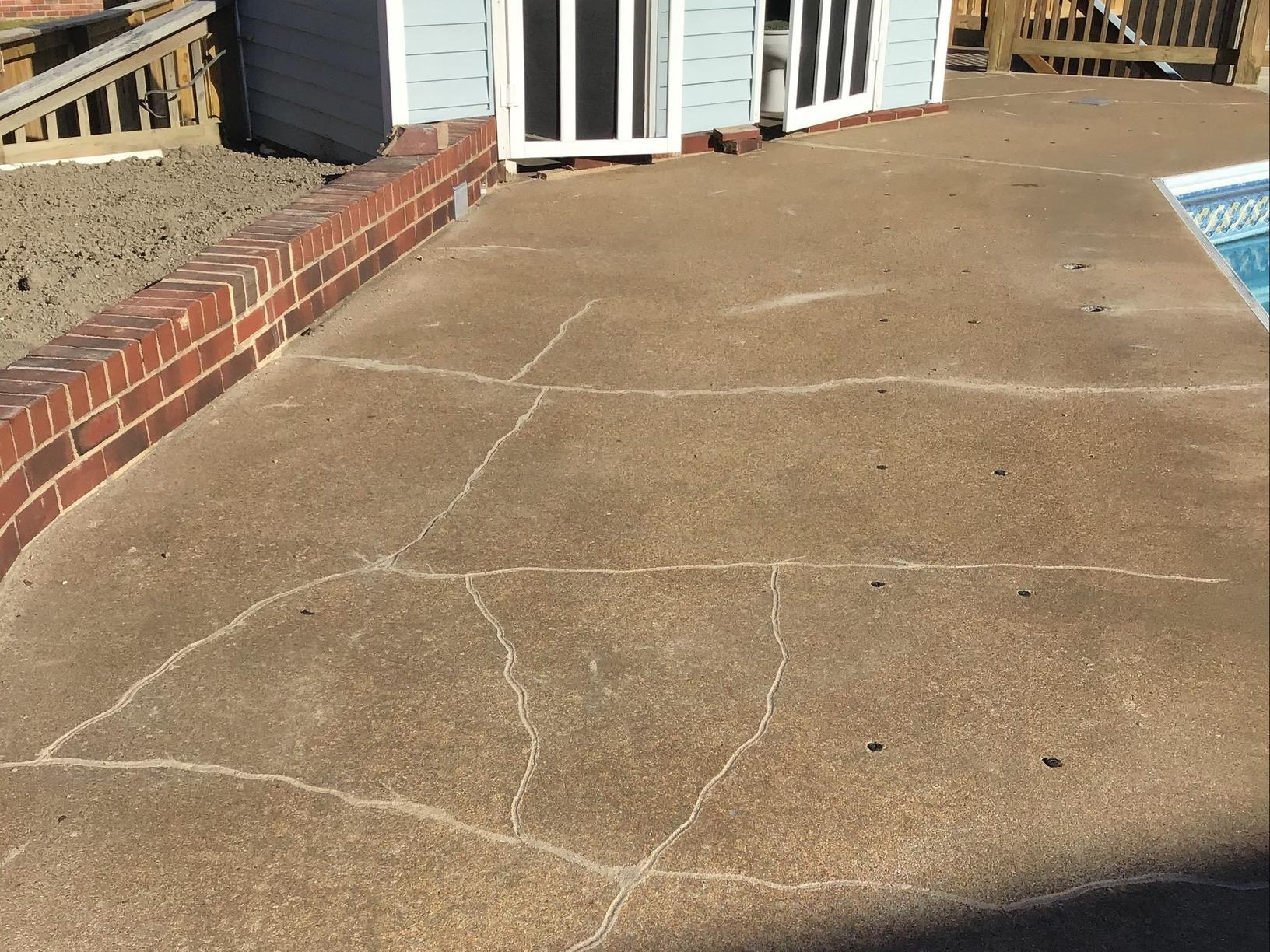 Pool Deck Repair in Richmond, VA - After Photo
