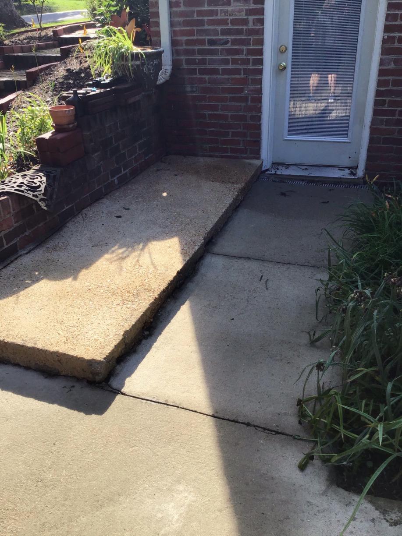 Crack Repair and Joint Sealing in Spotsylvania, VA - Before Photo