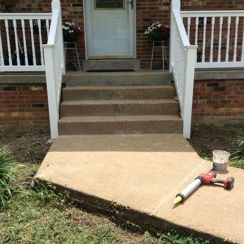 Concrete Leveling in Fredericksburg, VA - After Photo