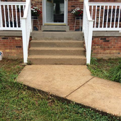 Concrete Leveling in Fredericksburg, VA - Before Photo