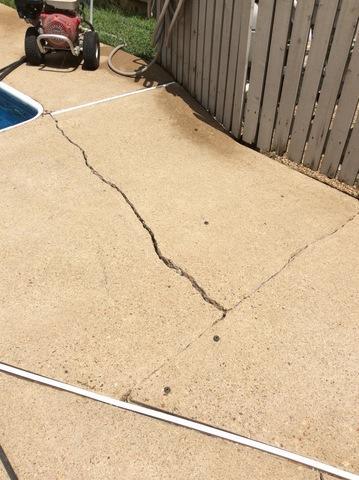 Pool Deck: Crack Repair & Concrete Leveling in Fredericksburg, VA