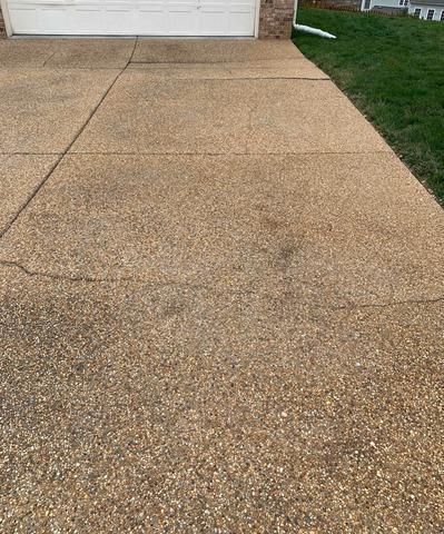 Crack Repair in Midlothian, VA - Before Photo