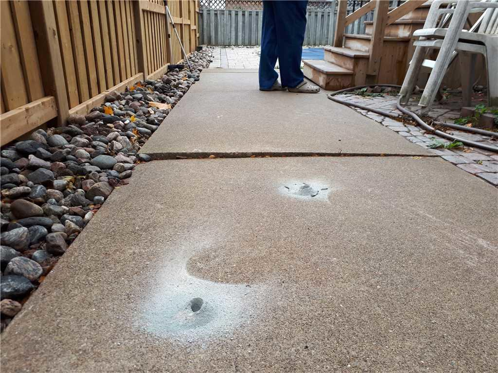 Side Walkway Causing Hazard, Oakville, ON - Before Photo
