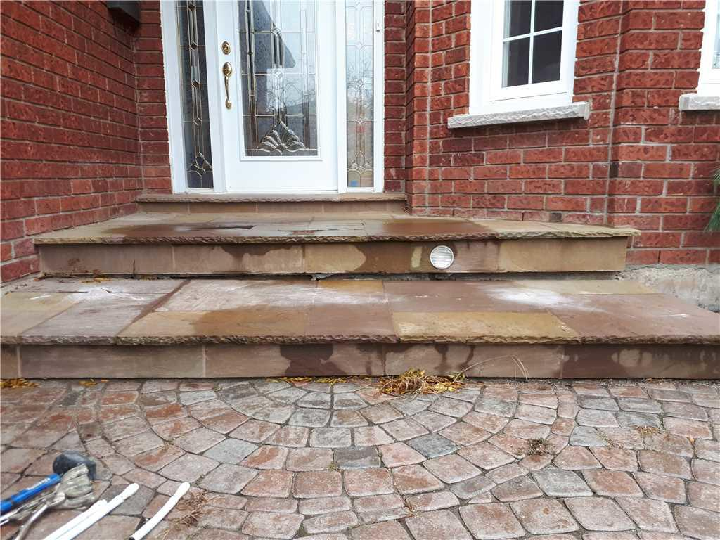 Front Steps Causing Hazard, Oakville, ON - After Photo