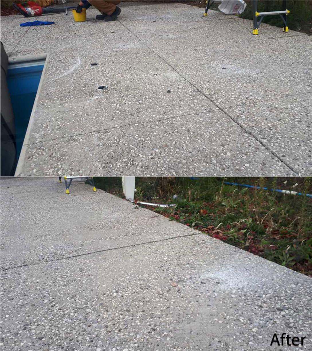 Cracks and Sinking Concrete Causes Safety Hazard in Creemore, Ontario - After Photo