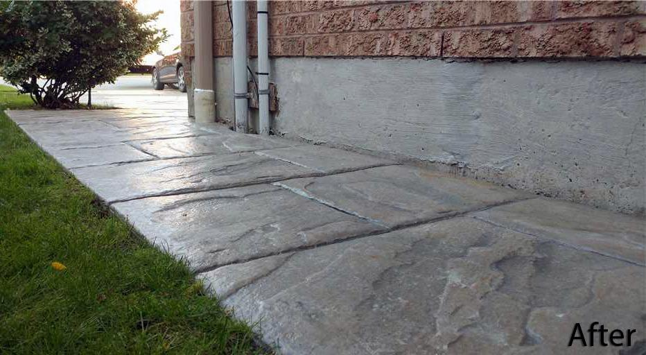 Sinking Concrete Walkway Puts Family at Risk in Mississauga, Ontario - After Photo