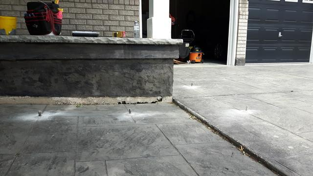 Concrete Leveling in Oakville, ON - Before Photo