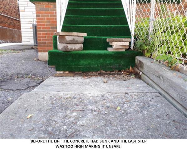 Large Step Caused Trip Hazard, Toronto, ON