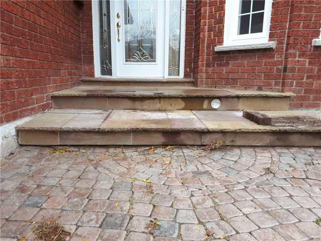 Front Steps Causing Hazard, Oakville, ON - Before Photo