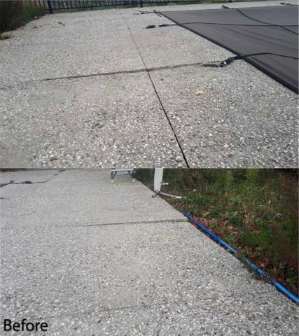 Cracks and Sinking Concrete Causes Safety Hazard in Creemore, Ontario - Before Photo