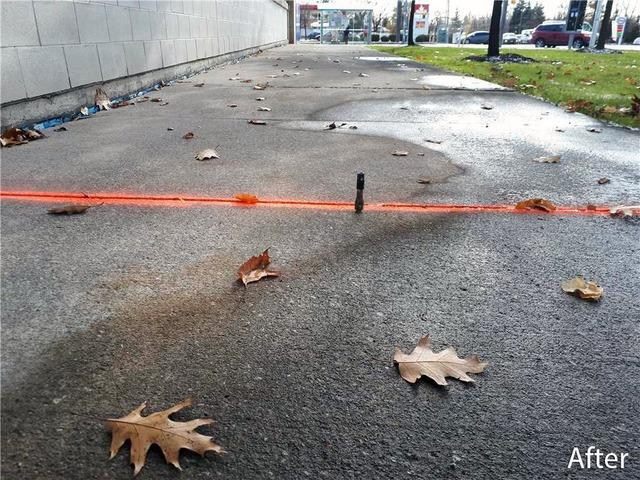 Sinking Concrete Causes a Trip and Fall Accident at Shopping Centre in Toronto, Ontario
