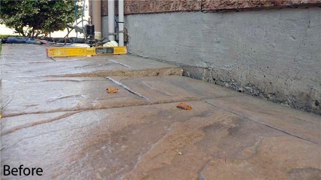 Sinking Concrete Walkway Puts Family at Risk in Mississauga, Ontario - Before Photo