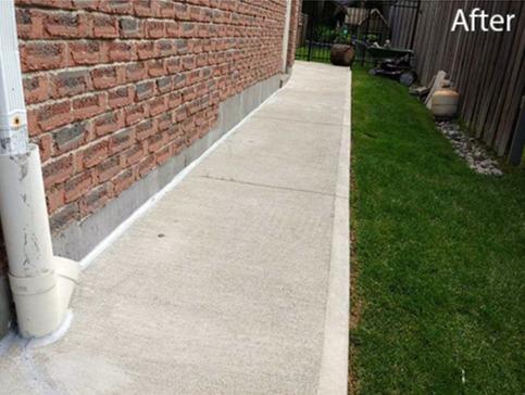 Sloping Walkway Poses Water Seepage Risk in Newmarket, Ontario