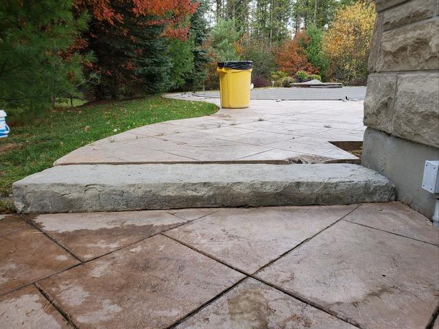 Backyard Step Sinks in Uxbridge, Ontario