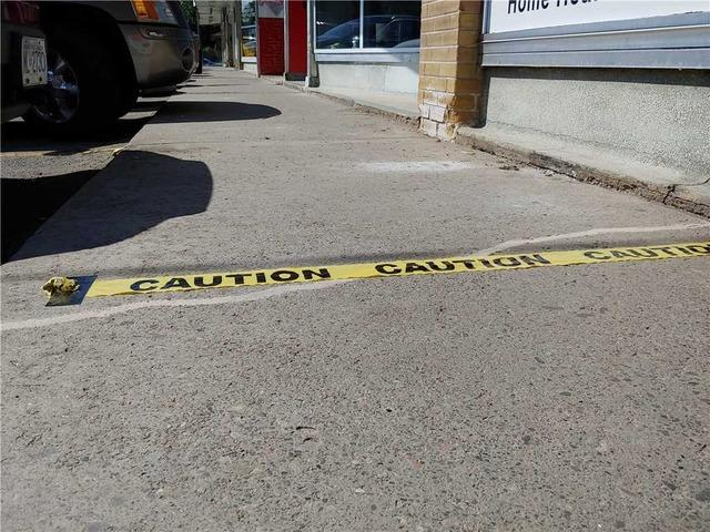 Sinking Plaza Walkway Threatens Customer's Safety in Oshawa, Ontario
