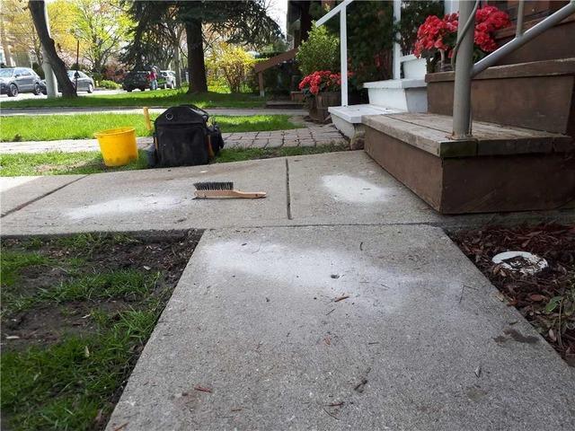 Sinking Front Walkway in Toronto, Ontario