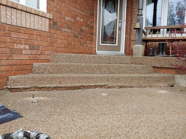Sinking Front Steps Force Elderly Parents to Stop Visiting in Georgetown, Ontario
