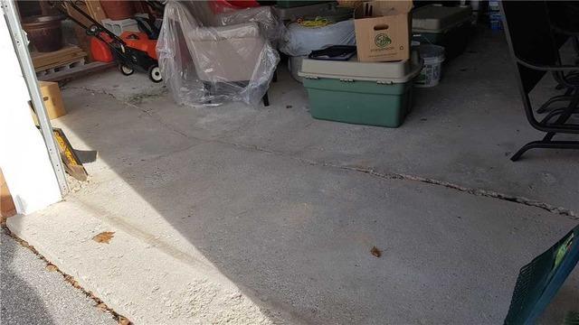 Void Leads to Cracked Garage Floor in Pickering, Ontario