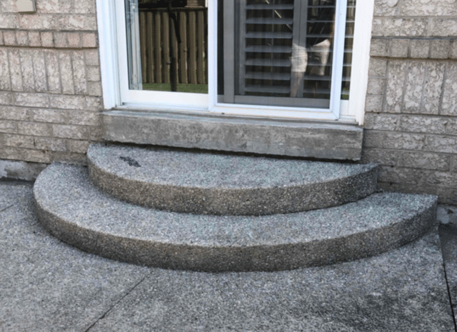 Backdoor Step Sinks and Pools Water in Mississauga, Ontario