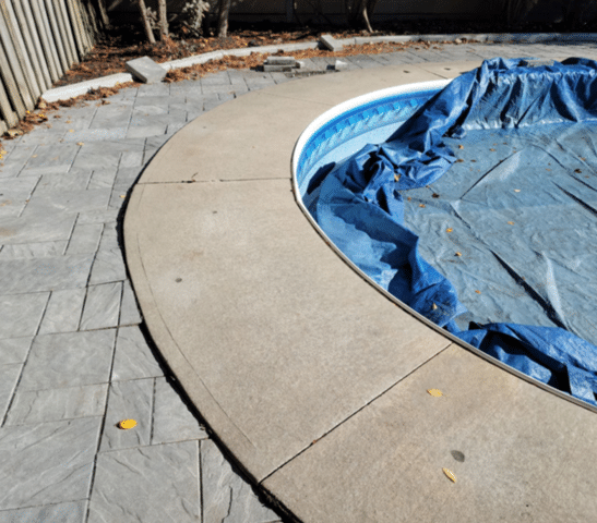 Sinking Pool Deck Hurts Child's Foot in Mississauga, Ontario - After Photo
