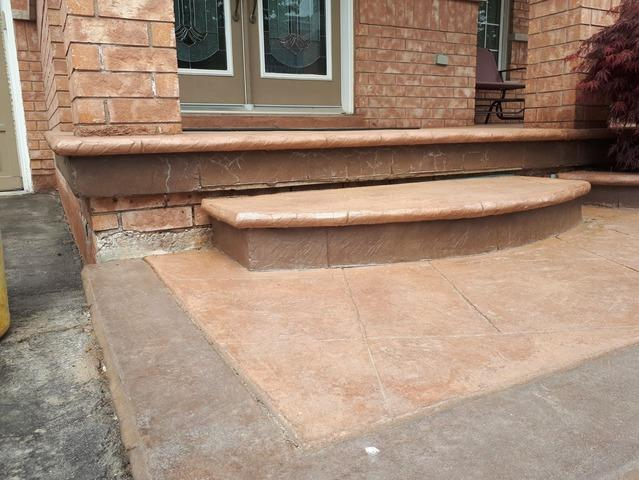 Front Step Sinks and Pulls Away from Porch in Burlington, Ontario