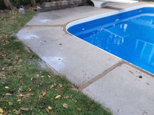 Worried Grandkids Reach Out for Sinking Pool Deck in Markham, Ontario