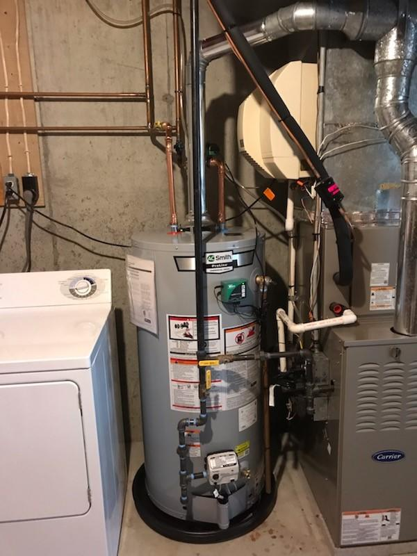 Gas hot water installation completed in Branford, CT! - After Photo