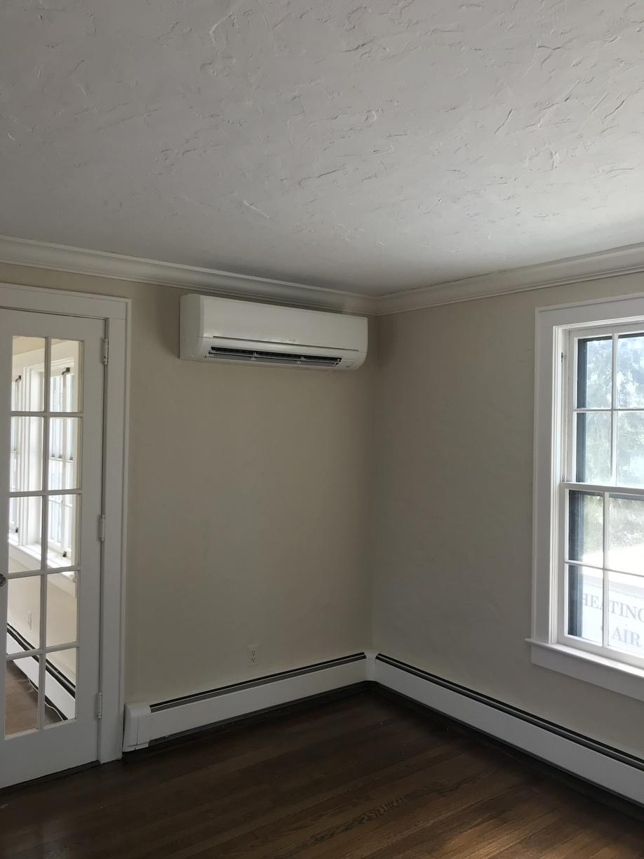 Mitsubishi ductless job done in Greenwich, CT - After Photo