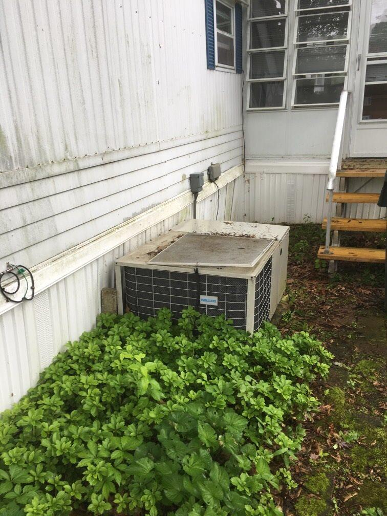 New Miller packaged heat pump system installed for our customer in Danbury, CT!! - Before Photo