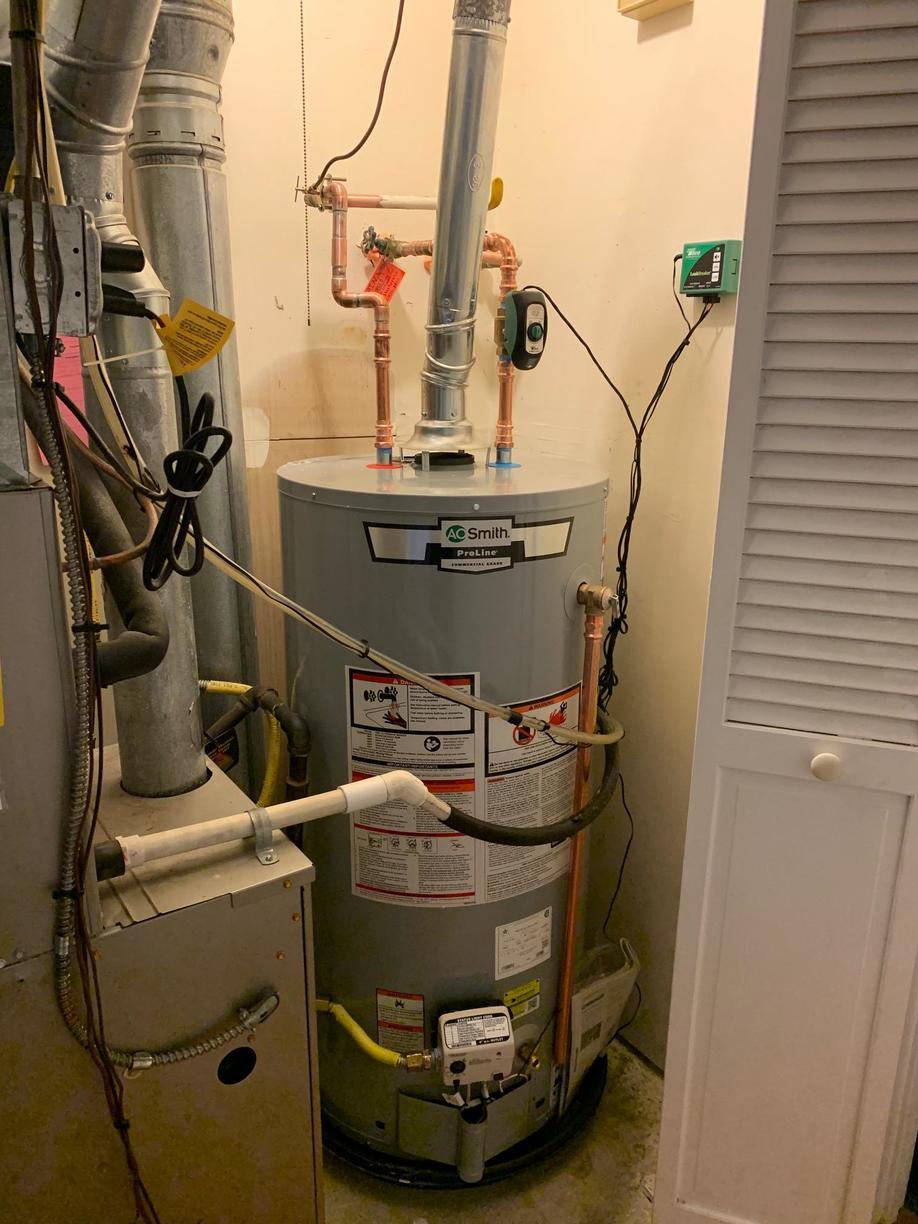 Gas hot water heater replacement in Branford, CT! - After Photo