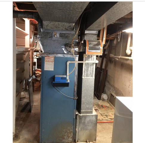Lennox furnace installation before and after in West Haven, CT